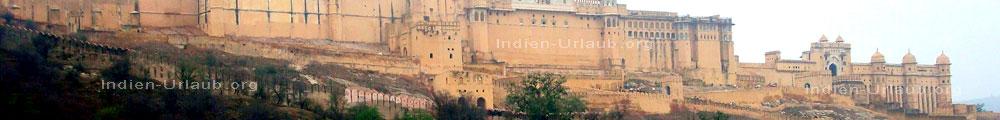 Amber Palast von einem Maharadscha bei den Rajasthan Rundreisen in Indien.