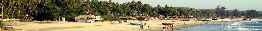 Arambol Goa, Hamal, Pernem. Hauptstrand wenn man den holprigen Weg runter kommt. Das Bild habe ich morgens gemacht beim Indien Urlaub am Meer.