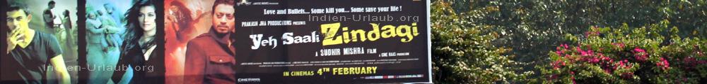 Yeh Saali Zibdagi Kinoplakat vom Filmstart am 4. Februar in Bombay Mumbai.