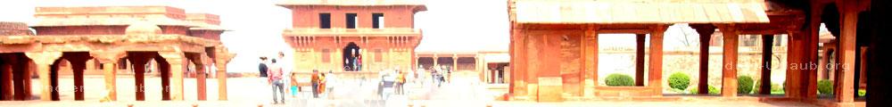 Fatehpur Sikri Geisterstadt von dem Kaiser Akbar in Nord-Indien.