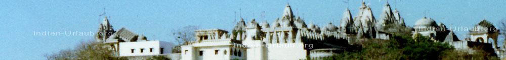 Reiseziel West-Indien: Jain Pilgerstaette auf einem Heiligen Berg im indischen Bundesstaat Gujarat.