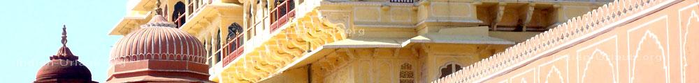Tuerme vom Stadtpalast in Jaipur.