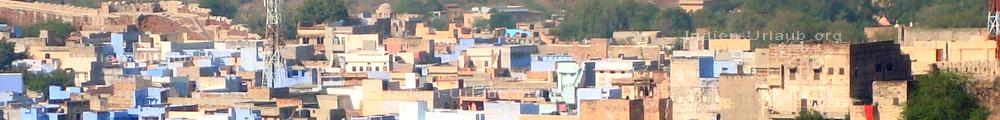 Die blaue Stadt Jodhpur im indischen Bundesstaat Rajasthan.