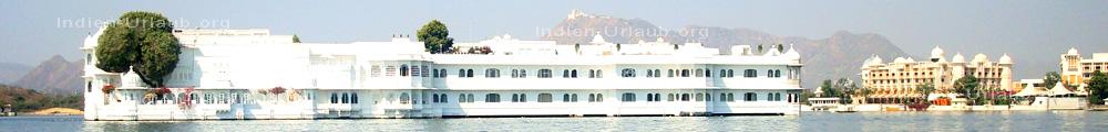 Udaipur die Stadt am See mit seinen eindrucksvollen Palaesten, bei den Rajasthan Rundreisen fotografiert.